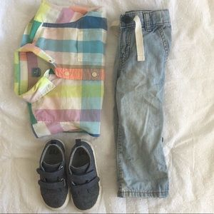 Colorful GAP Button up